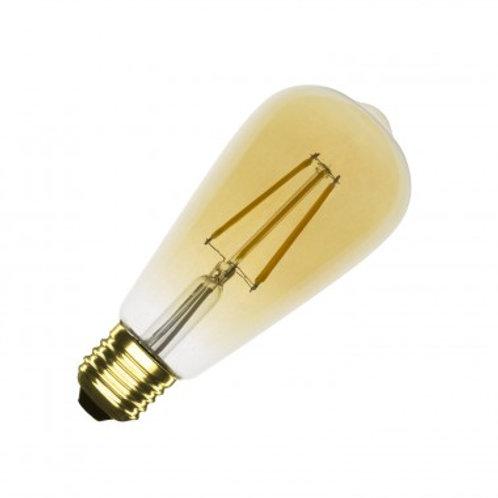 Ampoule LED E27 ST64, filament, 5,5W, golden, dimmable