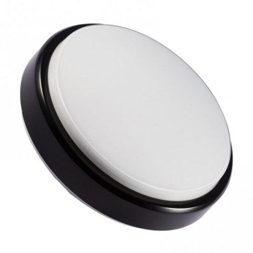 Plafonnier LED rond cadre noir, 12W