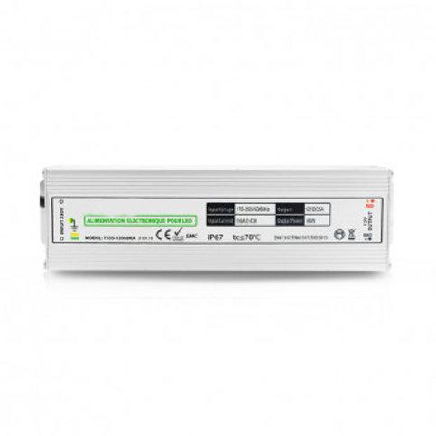 Bloc d'alimentation pour bandeau LED, 12V DC, 60W
