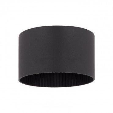 Applique extérieure LED ronde noire, solaire, 1.5W, avec détecteur