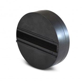 Patère noire, diam. 112x35mm