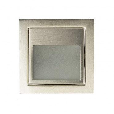 Balise LED carrée en acier inoxydable, 1,5W
