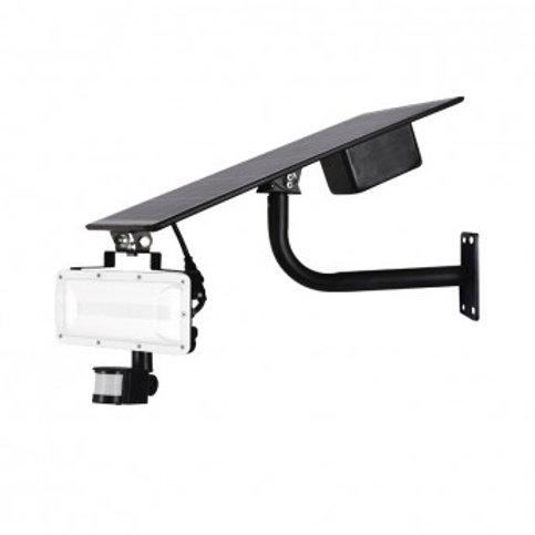 Projecteur LED solaire cadre gris, 20W, avec détecteur