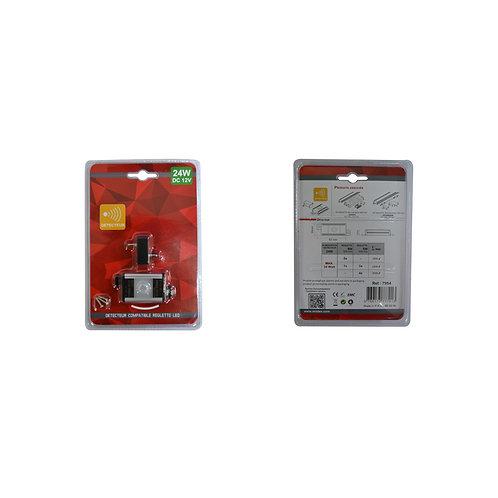 Détecteur et connecteur central pour réglette LED