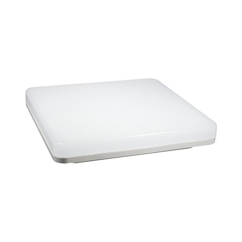 Plafonnier LED carré cadre blanc, 15W