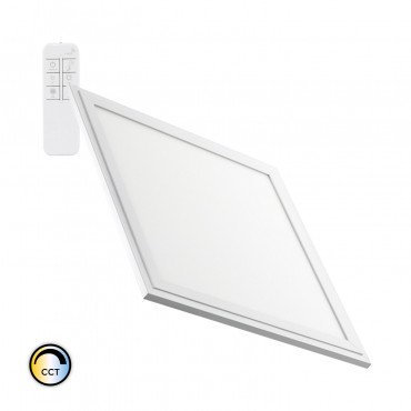 Dalle LED SMD carrée cadre blanc, dimmable, 24W