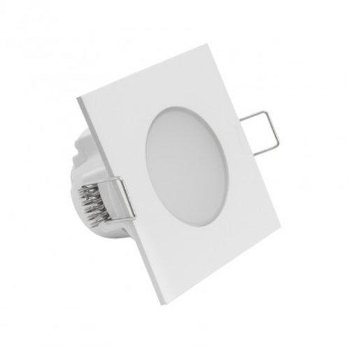 Spot LED carré cadre blanc, étanche, 5W