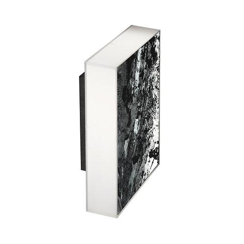 Applique murale LED rectangulaire en ardoise naturelle noire, 7W