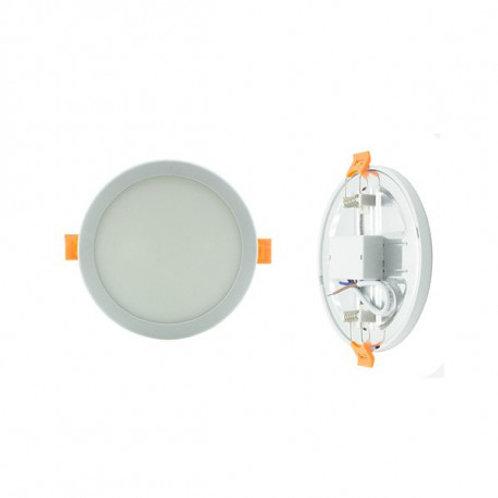 Downlight LED SMD cadre blanc, 8W, découpe réglable