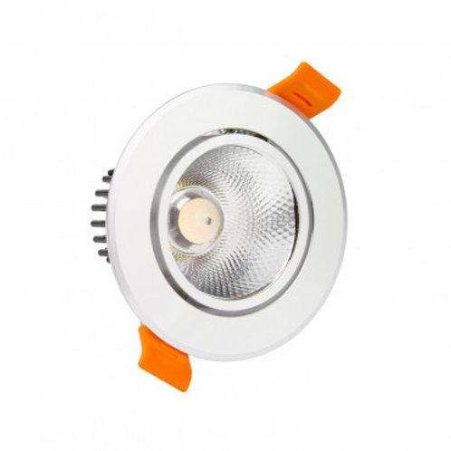Spot LED cadre argenté, orientable, 7W