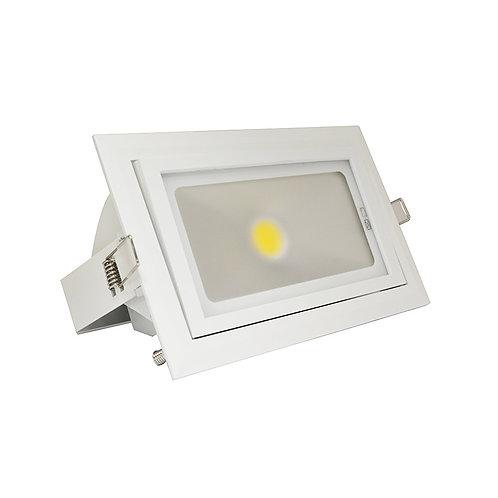 Projecteur encastrable LED, cadre blanc, 40W