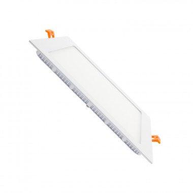 Dalle LED SMD carrée cadre blanc, 15W