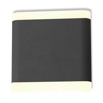 Applique murale LED carrée noire, 6W