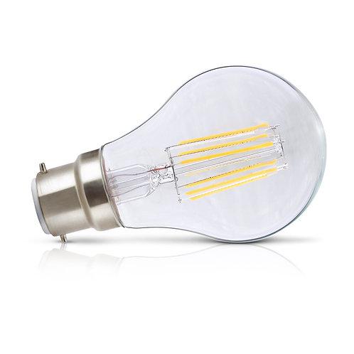 Ampoule LED COB B22, bulbe filament, 8W