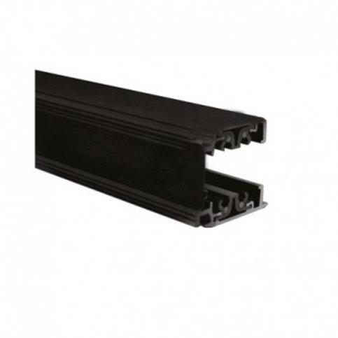 Rail triphasé noir pour spots LED, 2000mm