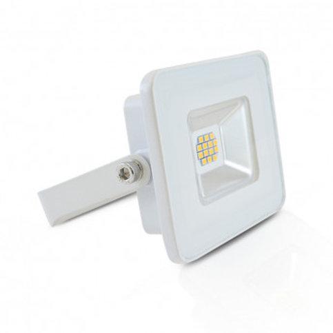 Projecteur LED extérieur cadre blanc, 10W