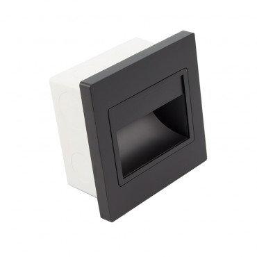 Balise LED carrée noire, 1,5W