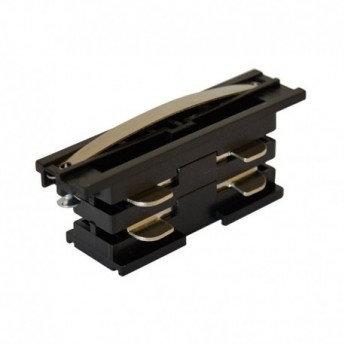 Connecteur de jonction noir pour rail triphasé, dim. 66x20mm