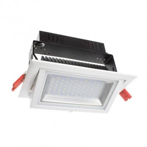 Projecteur encastrable LED Samsung SMD rectangulaire cadre blanc, 28W
