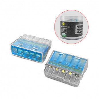 Connecteurs rapides 5 fils rigides (x50)