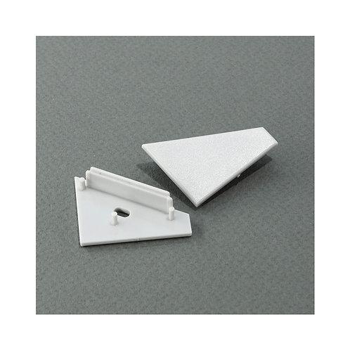 Terminaison gris pour profilé, angle 30/60° (x2)