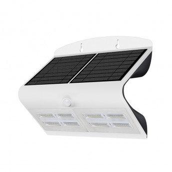 Applique LED cadre blanc, solaire, 6,8W, avec détecteur