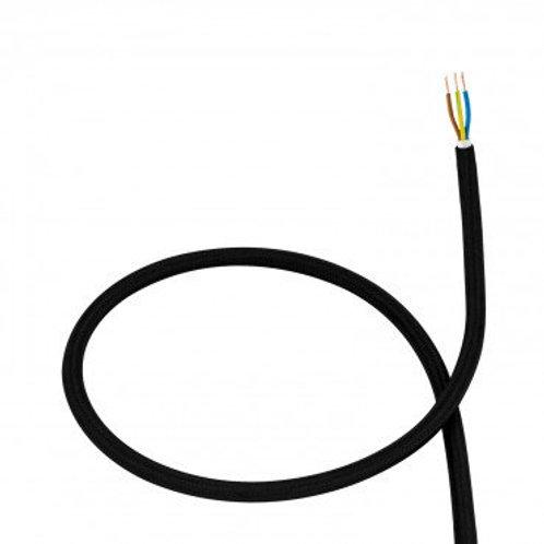 Câble textile noir en PVC
