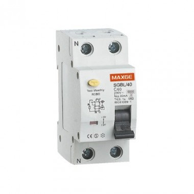 Interrupteur différentiel residenciel 1P+N, 30mA, classe AC, 6kA, 40A