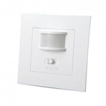 Interrupteur automatique LED avec détecteur infrarouge crépusculaire 160°, IP20