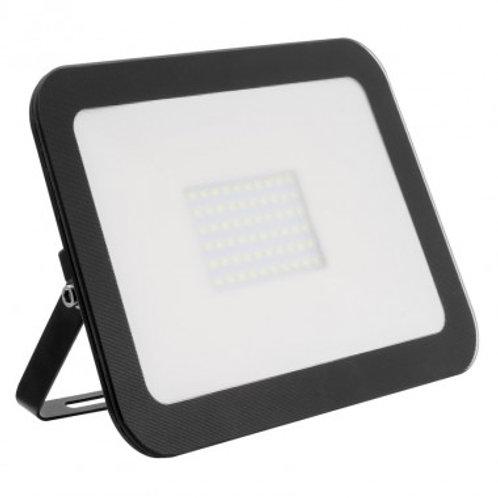 Projecteur LED SMD extérieur cadre noir, extra-plat, 100W