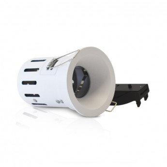 Support de spot BBC rond blanc, étanche, culot GU10, basse luminance