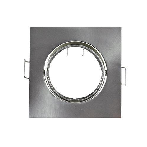 Support plafond carré argent, orientable