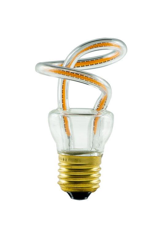 Ampoule LED E27, courbe boucle enroulée, 8W, dimmable