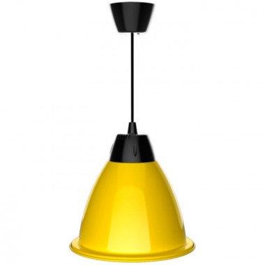 Suspension cloche LED SMD jaune en aluminium, 35W