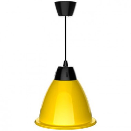 Suspension cloche LED SMD jaune en aluminium, 35W