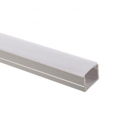 Profilé en aluminium translucide pour ruban LED 220V RGB, 1m 19,5x13mm