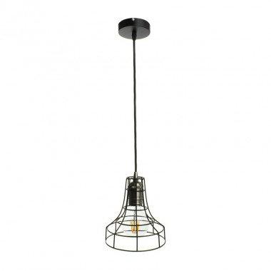 Lampe suspendue vintage en aluminium noir