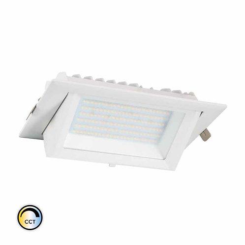 Projecteur encastrable LED Samsung, cadre blanc, 38W, sélectionnable, dimmable