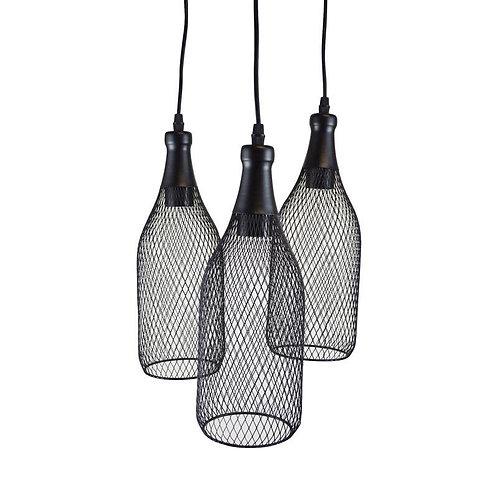 Lampe suspendue en forme de bouteilles