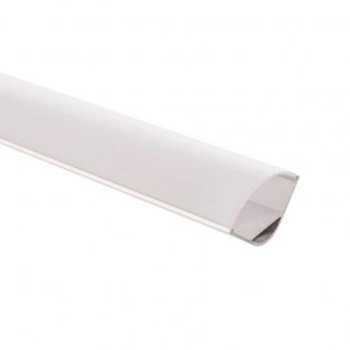 Profilé en aluminium translucide pour ruban LED, 1m x 30x30mm, angle 90°
