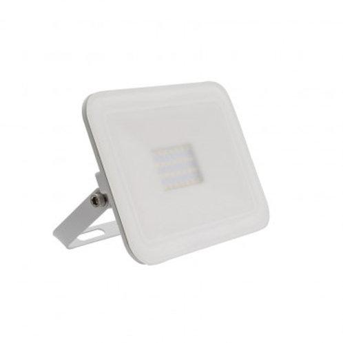 Projecteur LED SMD crystal extérieur cadre blanc, extra-plat, 20W