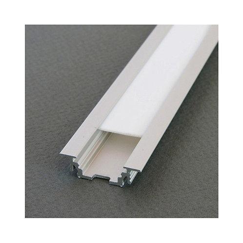 Profilé en aluminium brut rainuré pour ruban LED, 2m
