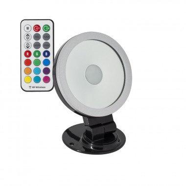 Projecteur LED extérieur cadre blanc ou noir, orientable, 20W, RGB