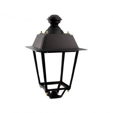 Lampadaire LED extérieur cadre noir, 60W