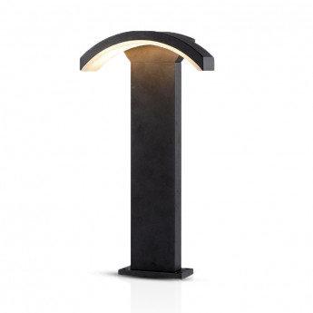 Balise sur pied LED extérieure, cadre gris, 6W, IP54