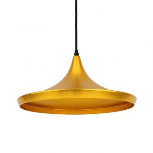Lampe suspendue vintage or en aluminium