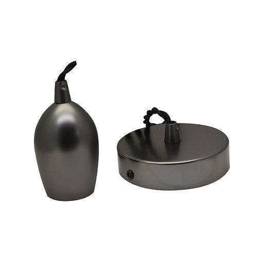 Lampe suspendue cloche douille métal avec câble de 2m