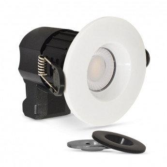 Spot LED BBC rond cadre blanc, noir ou étain, 7W, dimmable
