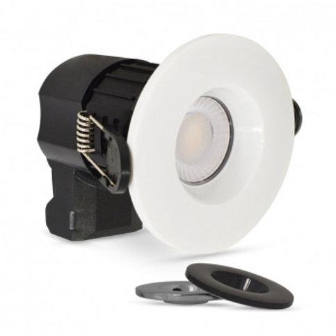 Spot LED BBC rond cadre blanc, noir ou étain, 7W