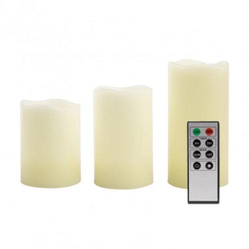Pack de 3 bougies LED